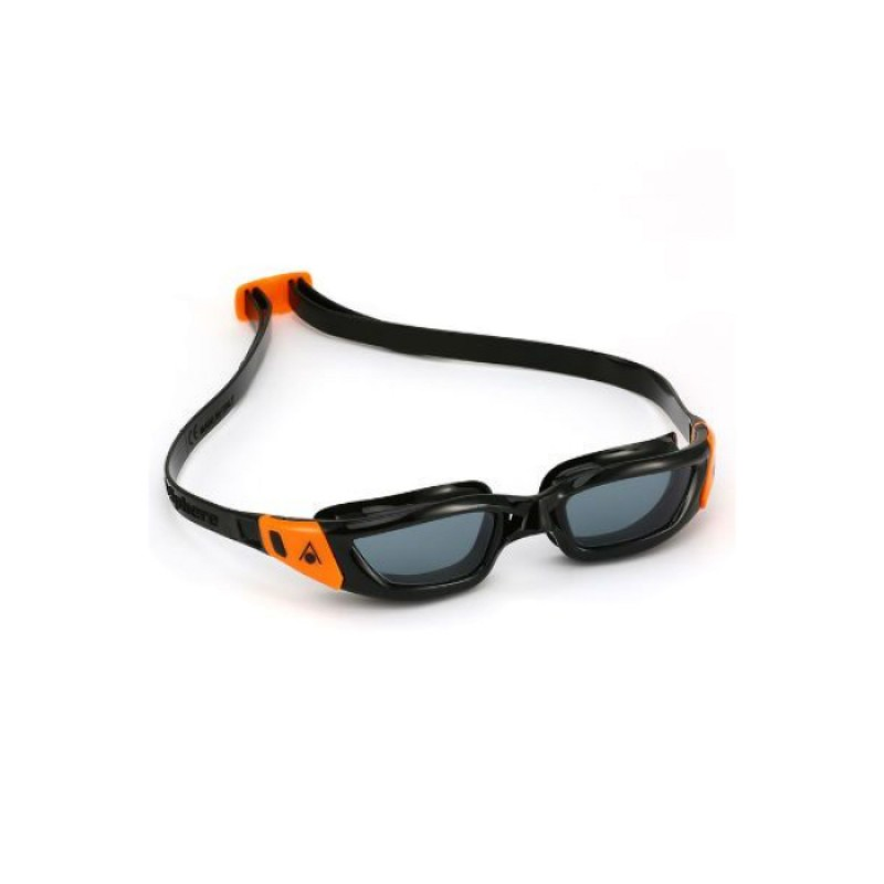 KAMELEON JUNIOR Black frame / Orange buckles, Oчила за плуване
