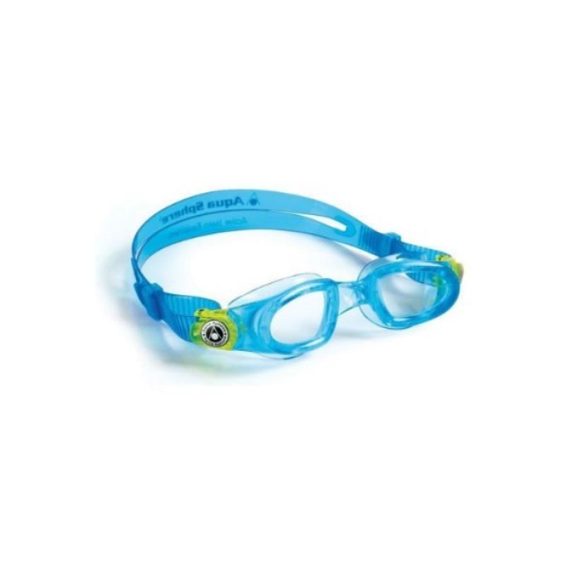 Moby Kid, Aqua/Lime, Очила за плуване